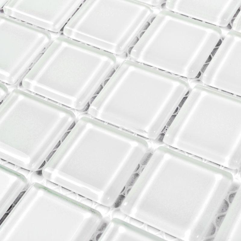 glass mosaic tile backsplash for decorative materials square super white crystal kitchen wall tiles bathroom shower tile mh070