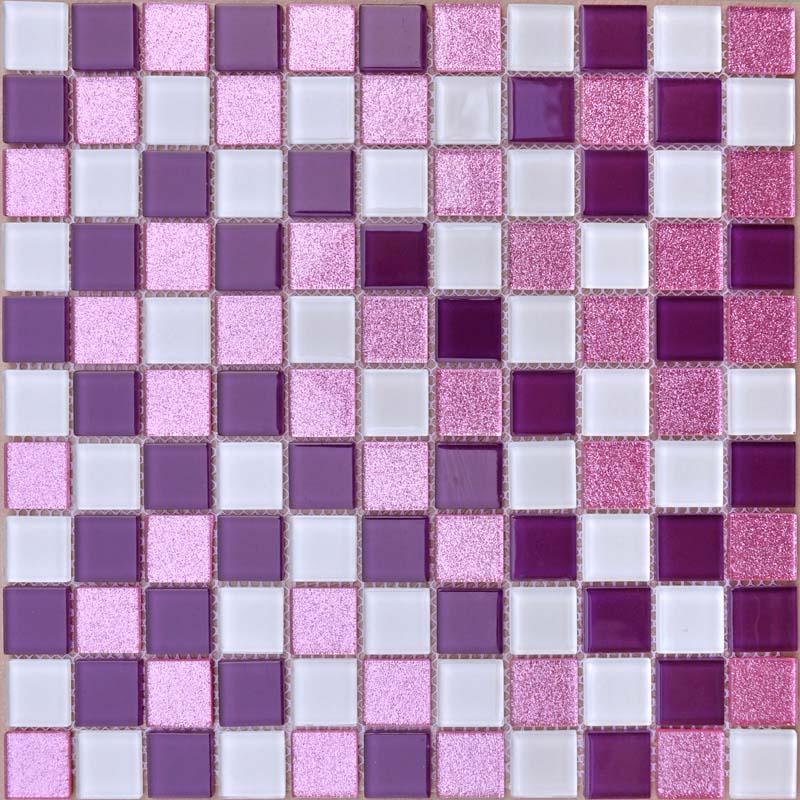 crystal glass mosaic sheets purple wall stickers kitchen backsplash ideas bravotti com