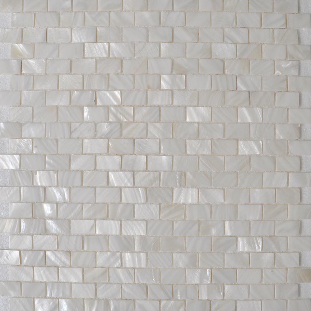 mother of pearl shell sheet white seashell mosaic subway tile mesh bathroom liner wall tiles