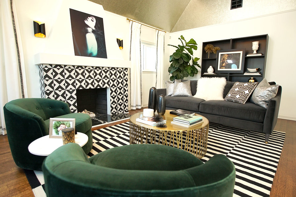 Best Room Wins Before and After Hollywood Regency