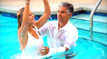 tamra gets baptized