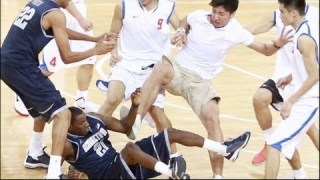 Georgetown Brawl in China: University Students End Basketball Game in Fight (08.19.11)