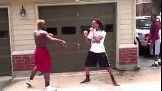 Crazy Fight In Parking Lot *Real KO