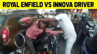 Royal Enfield Vs Innova Driver Epic Fight In Bengaluru Road!