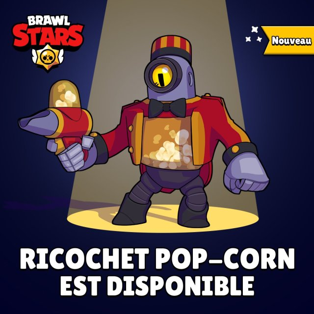Brawl Stars Skin Ricochet Pop-Corn