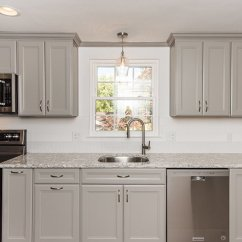 Schrock Kitchen Cabinets Bench Table Gorgeous Gray In Annandale, Va With Kitchenaid ...