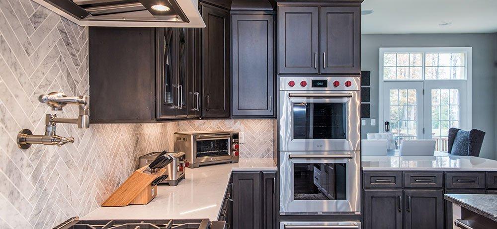 kitchen cabinets alexandria va refurbish luxurious in fairfax, with subzero/wolf ...