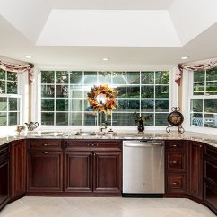 Kitchen Remodeling Silver Spring Md Island Cabinet Rich Cherry In With Ge Profile Appliances The Result Is A Warm Traditional Owners Will Continue To Love Throughout Years