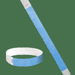 Brazalete Identificativo de Tyvek® 3/4 color Azul Cielo | BrazaVip