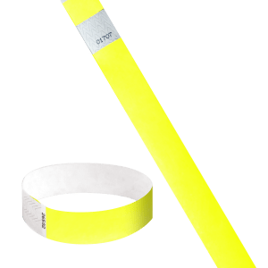 Brazalete Identificativo Tyvek® doble numeración color amarillo - BrazaVip