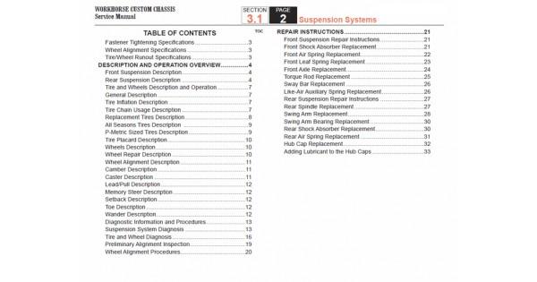2005-2007 Workhorse LF72 Suspension Service Manual