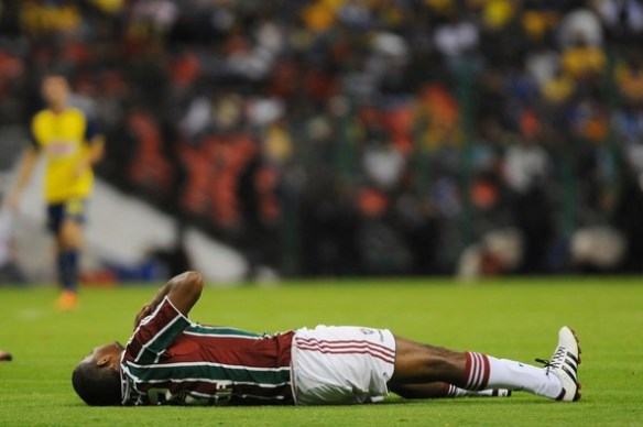 Fluminense lose 1-0 against América from Mexico in the Aztec stadium. Fluminense face an uphill task to progress to the next round