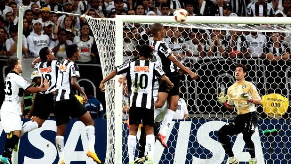 The moment Leonardo Silva equalised for Galo (Reuters)