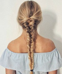 hair too thick for fishtail braid hairstyles for women