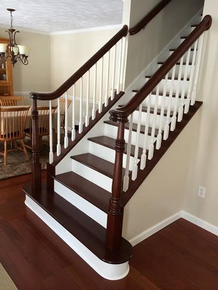 Stairs Treads And Risers Hardwood Floor Accessories By | Unfinished Stair Treads And Risers | Indoor Decorative Stair | Custom | Red Oak | Wood Plank | Hickory