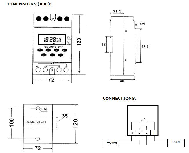 COMBO Programmable 12V DC Timer Switch 25A + DC Wireless
