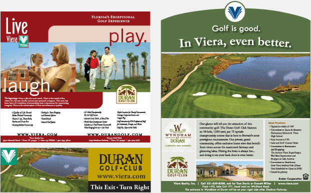 Wyndham At Duran Golf Club Viera  Golf Course Branding  Luxury Estate Marketing