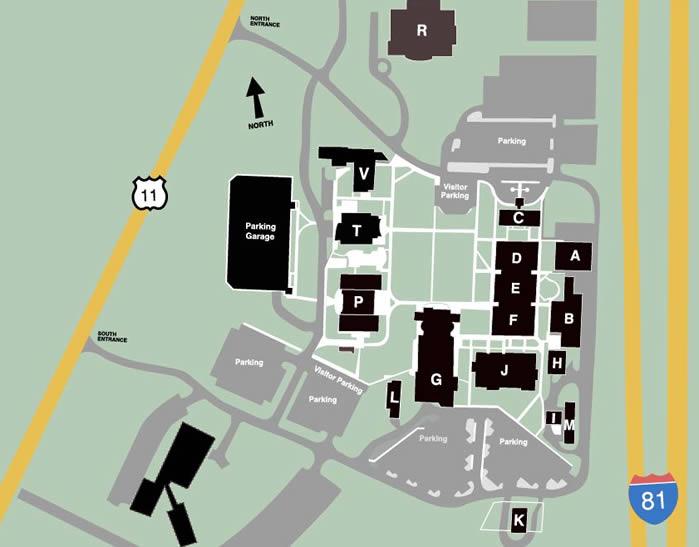 Richland Community College Campus Map.Campus Map College Community Richland