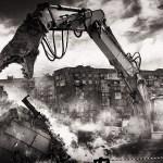 chantiers de démolition et poussières