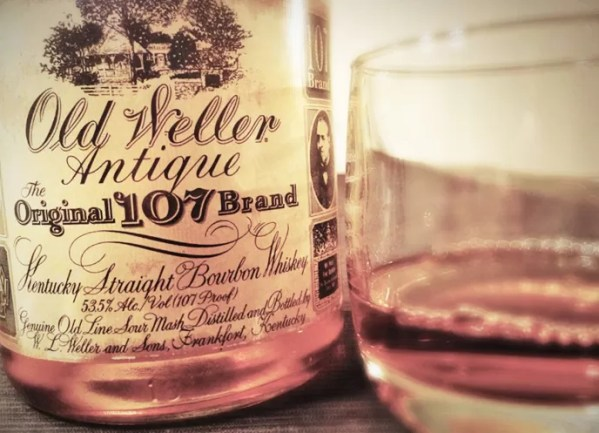 Old Weller Antique 107: the culprit behind this post.