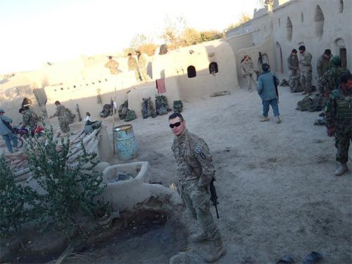Author Mike Kupari in Afghanistan