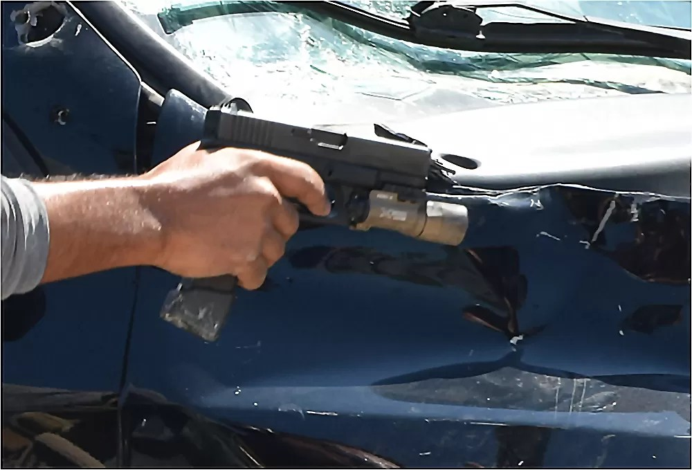 Taran Tactical Glock 19 mag extension at a VCQB course.