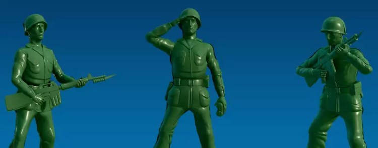Military Intelligence - Green Army Men - Nick Perna for Breach Bang Clear.