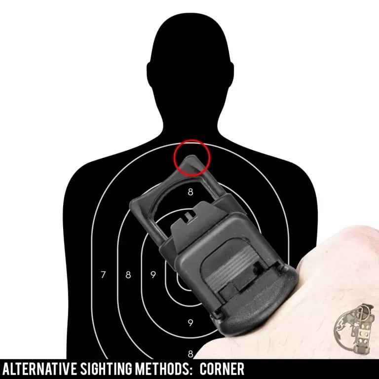 Red Dot Sights for Pistol - using the corner as an alternative sighting method.