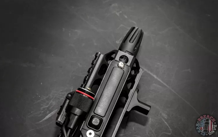 The Streamlight ProTac Rail Mount 2 direct mounted to a Centurion CMR-compatible rail.