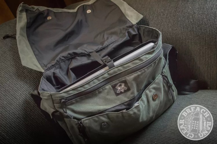Grey Ghost Gear Messenger waxed canvas messenger bag for men
