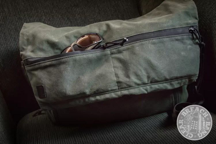 Grey Ghost Gear waxed canvas messenger bag for men