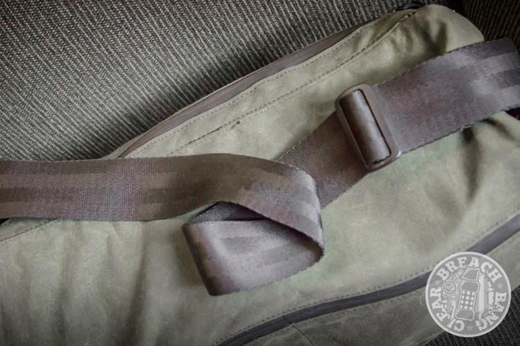 shoulder strap made of seatbelt material