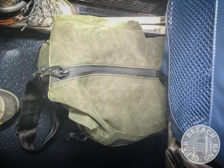 Grey Ghost Gear Wanderer messenger bag flight carry-on bag.