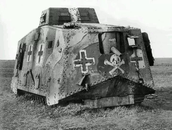 The German AV7 WWI tank - a terrible machine, with little impact on WWI. Many lessons were learned, however, and put to use by the Germans in WWII.