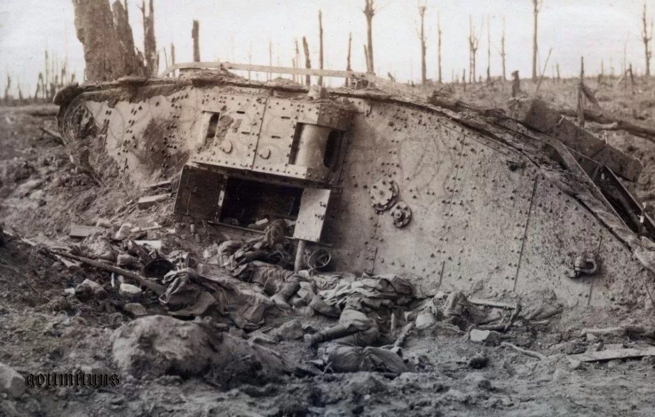 Early tanks were intended to punch through WWI trench to clear the way for a traditional cavalry breakthrough behind the lines, but it didn't work out that way. Nascent armor tactics and a failure to use combined arms led to heavy casualties in early armored units.
