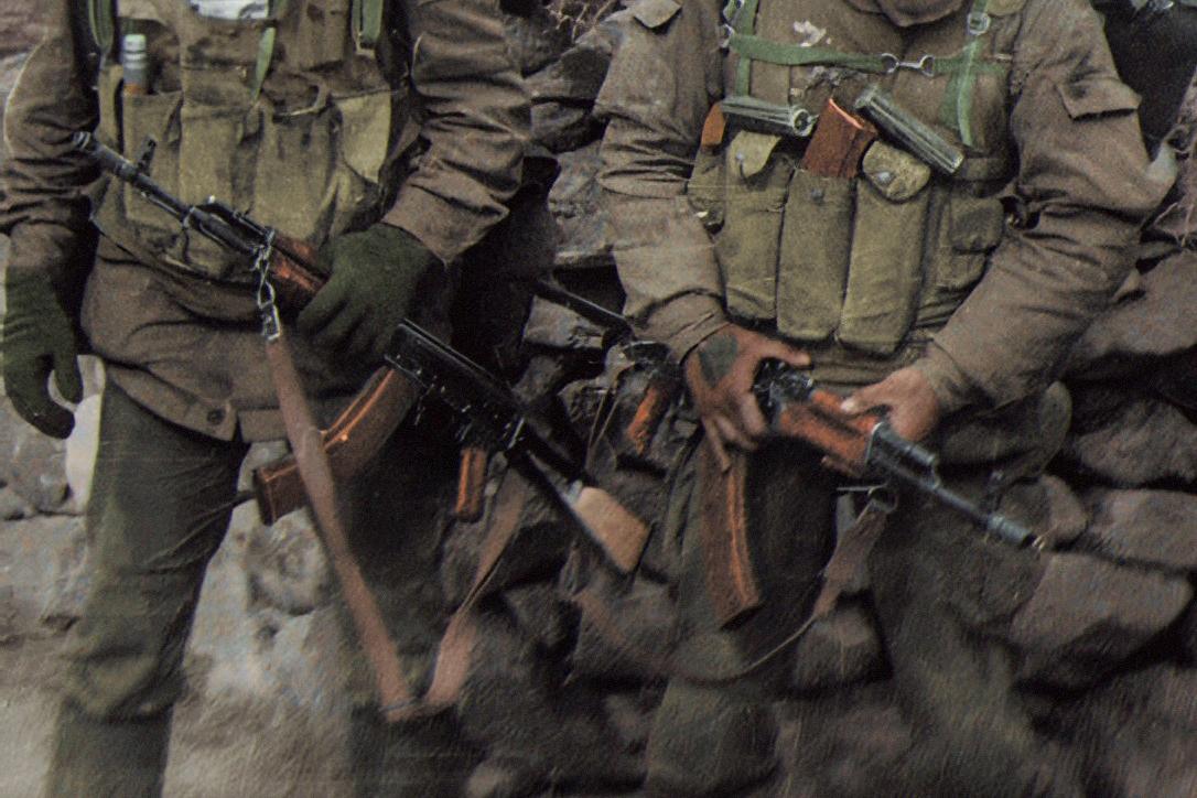 Bakelite AK magazine exemplars in Afghanistan