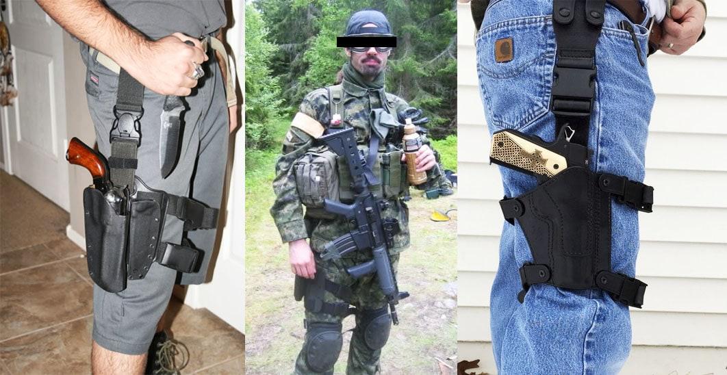 single strap drop leg holster