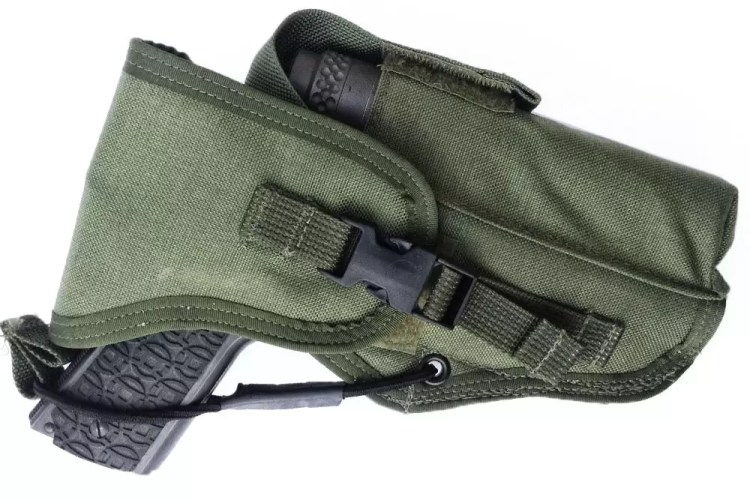 London Bridge Trading Inc. holster with suppressor pouch.