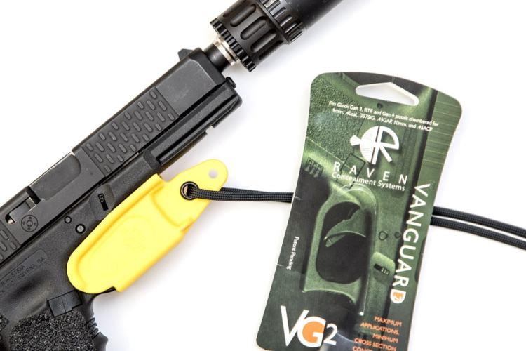 Raven Concealment Vanguard 3 suppressor holster.