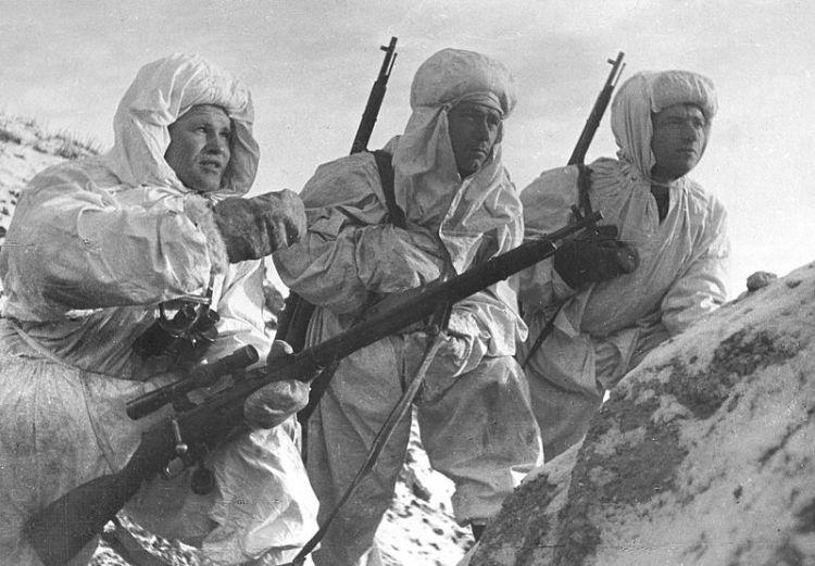 Vasily Zaytsev, left, December 1942 in Stalingrad.
