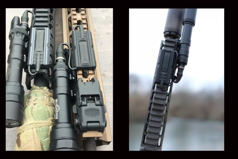 Two side-by-side images of Cloud Defense LCS Gen-2 tape switch mounts.