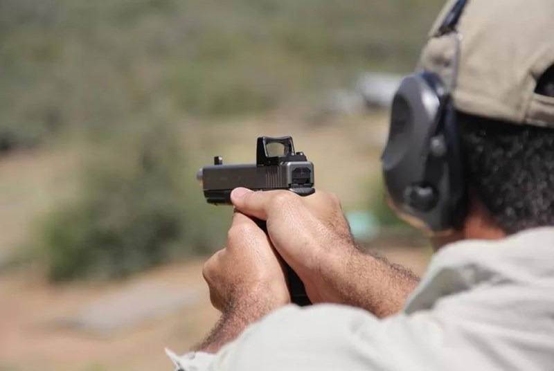 The pro series red dot equipped pistol.