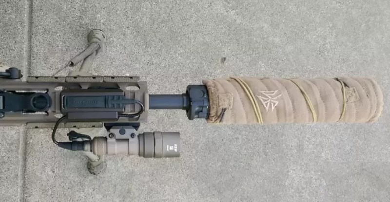 CD Light Control System Integrated Cable Clamp for an AR 15 flashlight.