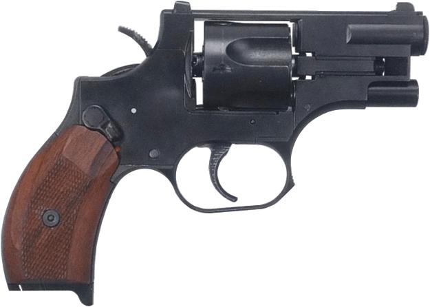 The Stechkin suppressed revolver.