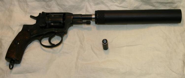 Suppressed Nagant revolver