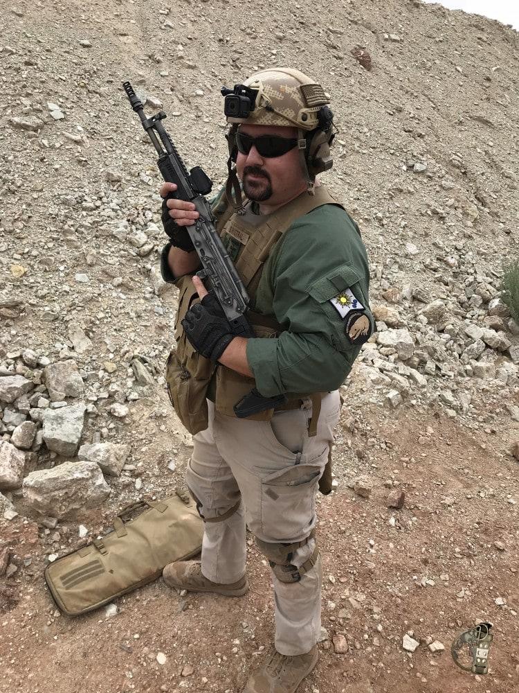"""Russell Phagan, aka """"Sinistral Rifleman"""" at Red Oktober."""