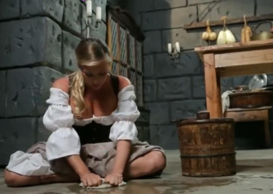 Adult film star Samantha Saint as Cinderella