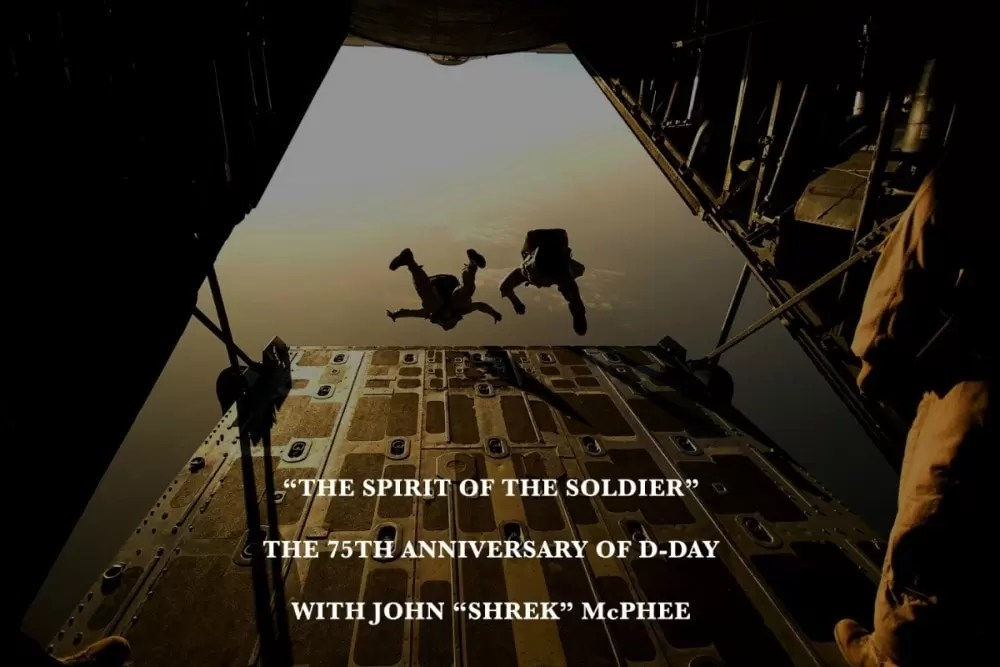 75th anniversary of D-Day with John Shrek McPhee the Sheriff of Baghdad