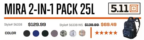 5.11 Backpack - Mira 2-in-1 pack