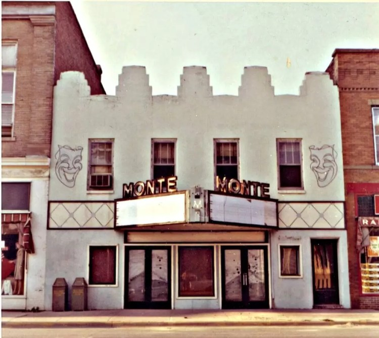 This was Brownells first warehouse: the old Monte Theater in Montezuma, Iowa. Brownells is a firearm and gunsmithing supply company.